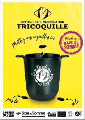 affiche de l'opération de valorisation Tricoquille