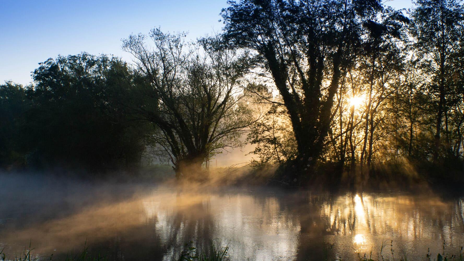 photo de la Somme sur un levé de soleil à proximité d'Eaucourt-sur-Somme